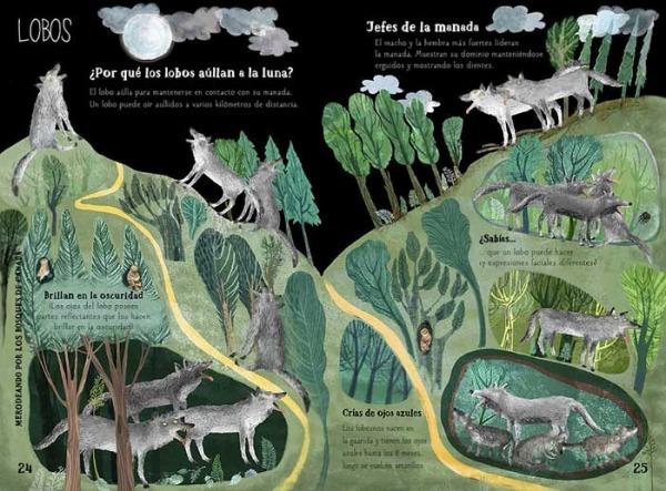 gran libro bestias lobos hábitat