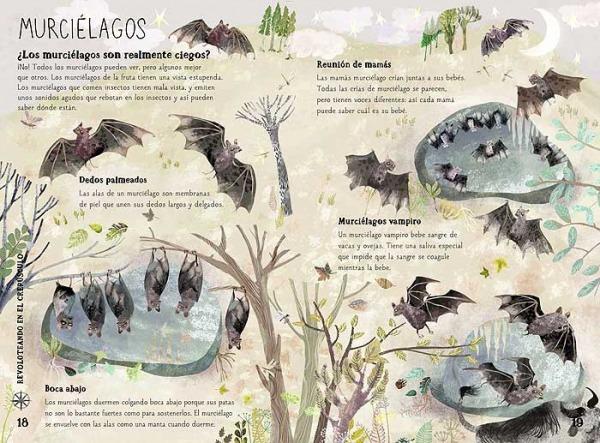 gran libro bestias salvajes animales murciélagos