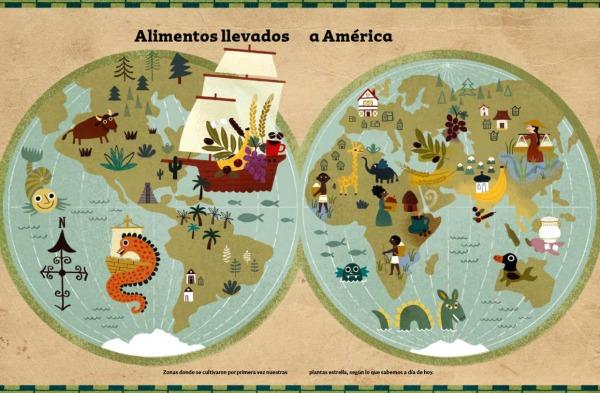 Mapa interior aventuras y desventuras alimentos. editado por a fin de cuentos