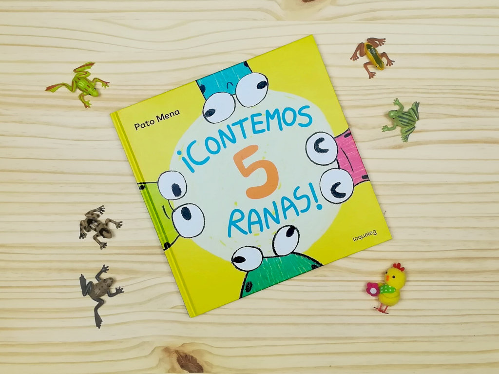 """Montaje de presentación del libro """"Contemos 5 ranas"""""""