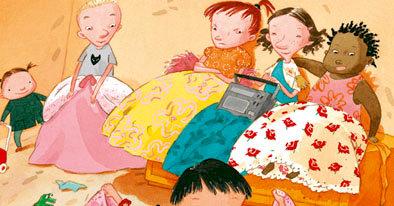 """Ilustración del libro """"Kike y las Barbies"""", de Pija Lindenbaum, editado por Gato Sueco Editorial"""
