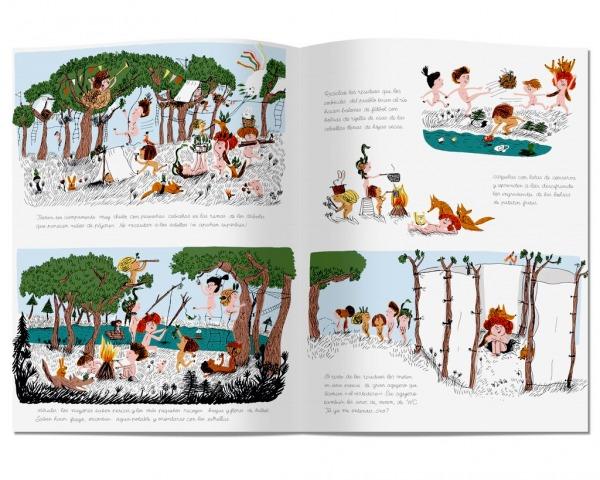 Fotos interiores del libro La tribu que apesta editado por Litera Libros