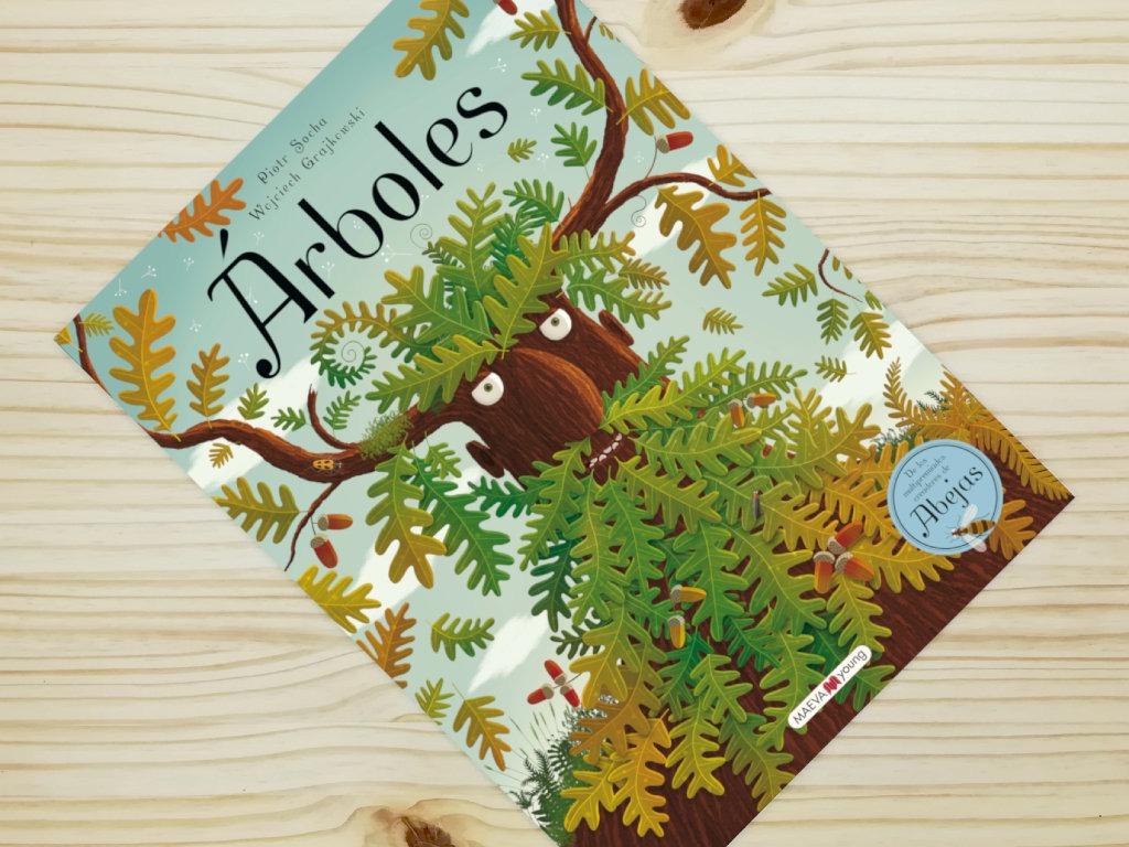 portada libro informativo arboles de editorial maeva
