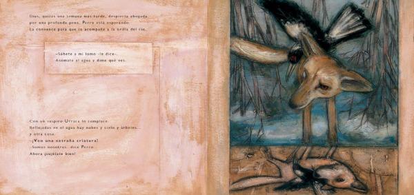 """Páginas interiores 2 del libr """"Zorro"""", editado por Ekaré"""