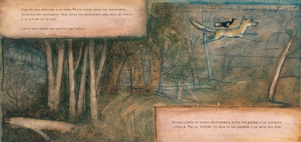 """Páginas interiores 3 del libr """"Zorro"""", editado por Ekaré"""