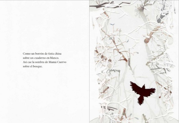 """Páginas interiores 1 del libro """"El secreto del abuelo oso"""", de Pedro Mañas (texto) y Zuzanna Celej (ilustración), editado por Kalandraka"""