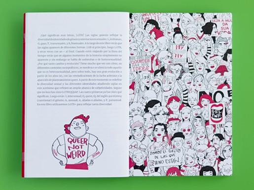 """Páginas interiores 2 del libro """"Imparables. Feminismos y LGTB+"""", de Pandora Mirabilia y Mar Guixé, editado por Astronave"""