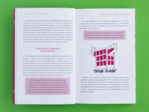"""Páginas interiores 3 del libro """"Imparables. Feminismos y LGTB+"""", de Pandora Mirabilia y Mar Guixé, editado por Astronave"""