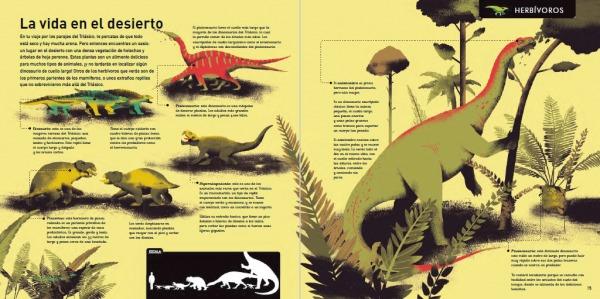 """Páginas interiores 6 del libro """"La era de los dinosaurios"""", de SteveBrusatte y Daniel Chester, editado por Siruela"""