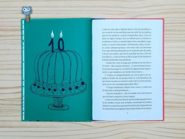 """Páginas interiores 7 del libro """"La importancia del primer cero"""", de Oti Rodríguez, editado por A buen paso"""