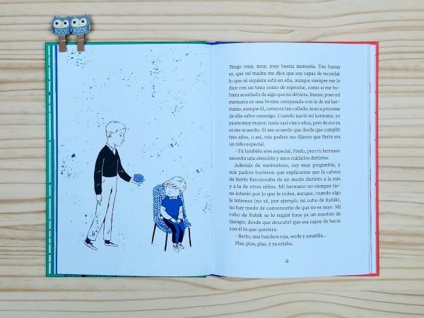 """Páginas interiores 8 del libro """"La importancia del primer cero"""", de Oti Rodríguez, editado por A buen paso"""