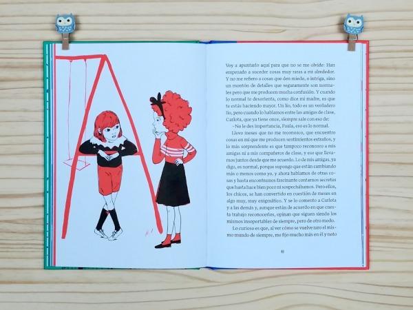 """Páginas interiores 9 del libro """"La importancia del primer cero"""", de Oti Rodríguez, editado por A buen paso"""