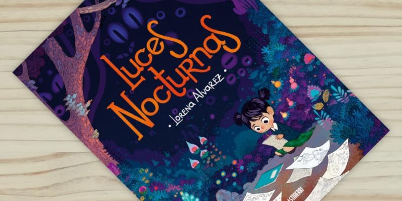 "Montaje portada del libro comic ""Luces nocturnas"", de Lorena Alvarez, editado por Astiberri"