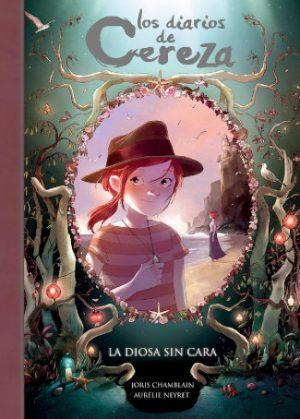 """Portada del libro """"Los diarios de Cereza 4 - La diosa sin cara"""""""