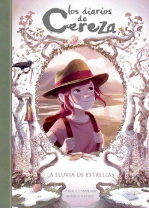 """Portada del libro """"Los diarios de Cereza 5 - La lluvia de estrellas"""""""
