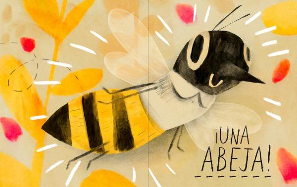 """Páginas interiores 2 del libro """"Mi vida de abeja"""", de Kirsten Hall y Isabelle Arsenault, editado por Libros del Zorro Rojo"""