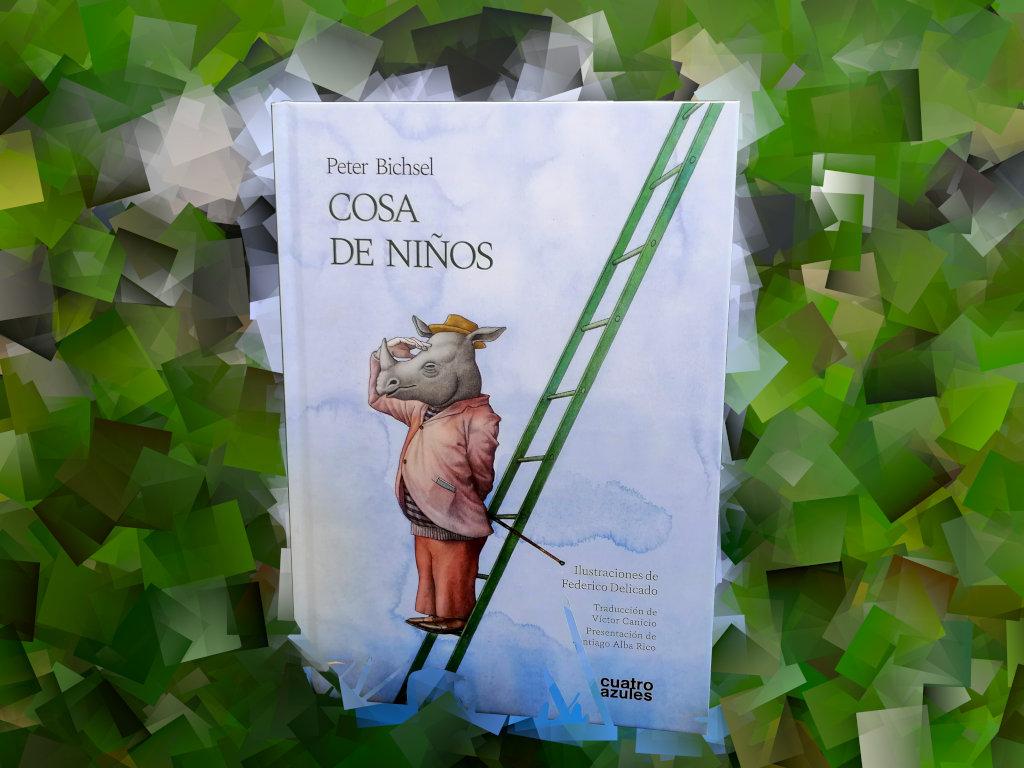 """Montaje de Porteda del libro """"Cosas de niño"""", de Peter Bichsel, editado por Los cuatro azules"""