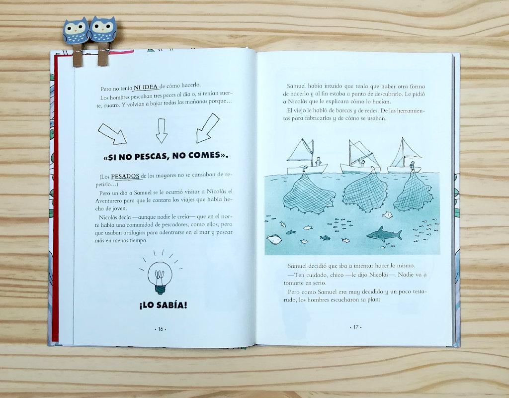 """Páginas interiores 6 del libro """"¿Dóndel crece el dinero?, de Laura Mascaró, editado por Montena"""