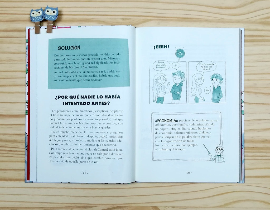 """Páginas interiores 7 del libro """"¿Dóndel crece el dinero?, de Laura Mascaró, editado por Montena"""