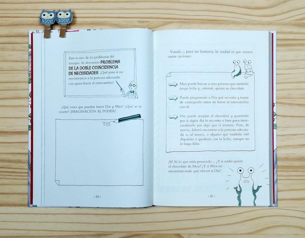 """Páginas interiores 8 del libro """"¿Dóndel crece el dinero?, de Laura Mascaró, editado por Montena"""