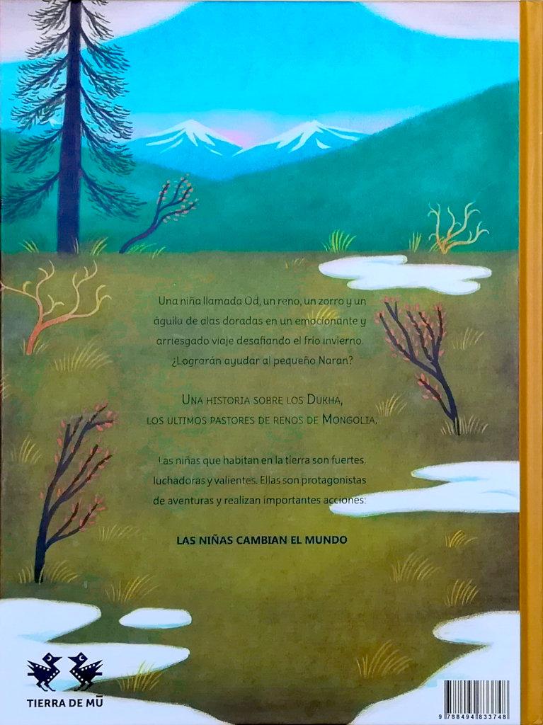 el-viaje-de-od contraportada escrito por Susanna Isern ilustrado por Ana Sender editorial tierra de Mu