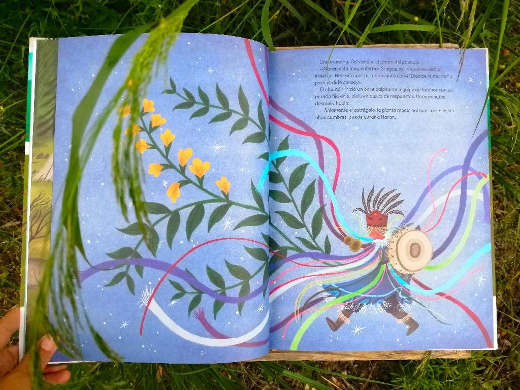 el-viaje-de-od chaman escrito por Susanna Isern ilustrado por Ana Sender editorial tierra de Mu