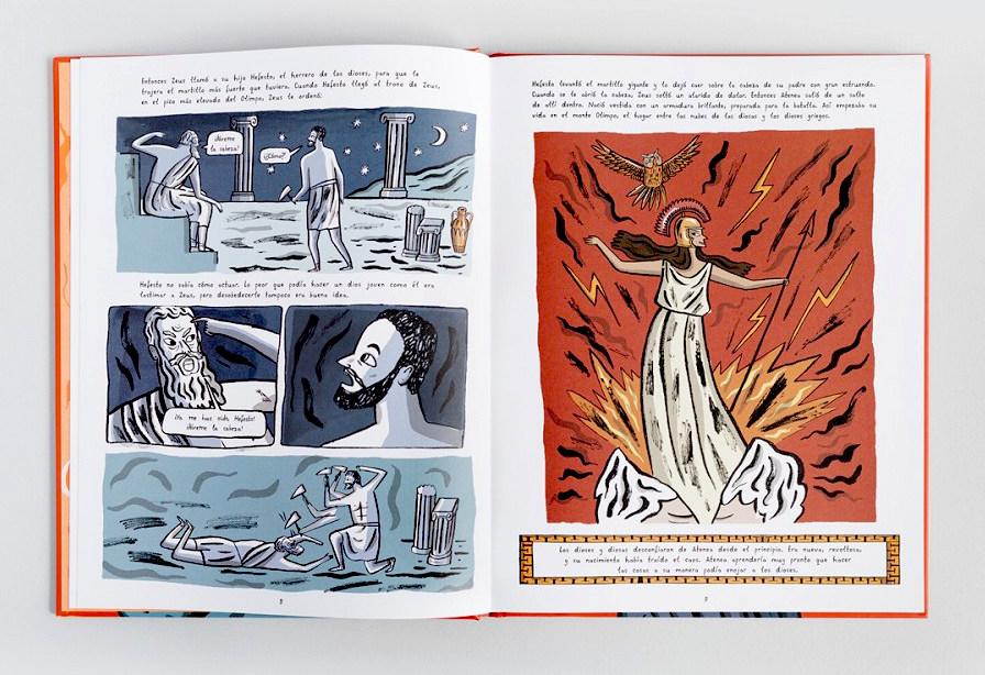 La-historia-de-atenea-zeus- escrito por imogen greenberg editado por astronave.