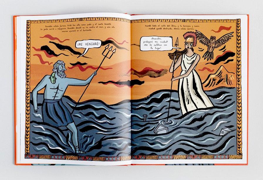 La-historia-de-atenea-poseidón escrito por imogen greenberg i editado por astronave