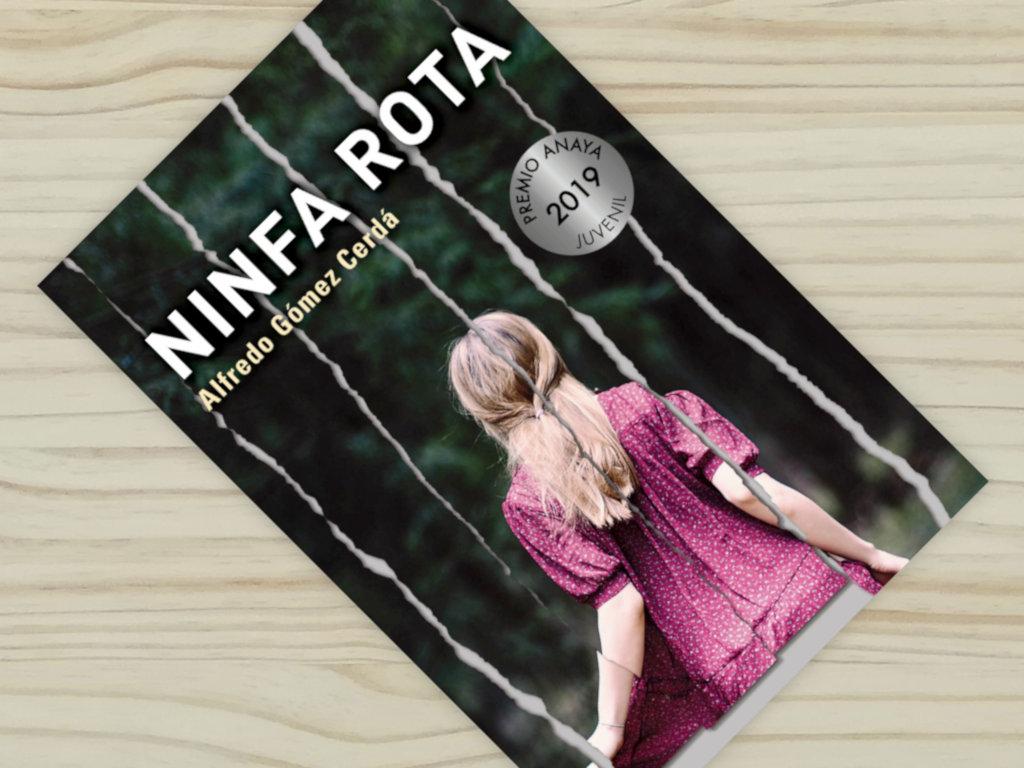 """Montaje de la portada del libro """"Ninfa rota"""", de Alfredo Gómez Cerdá, editado por Anaya"""