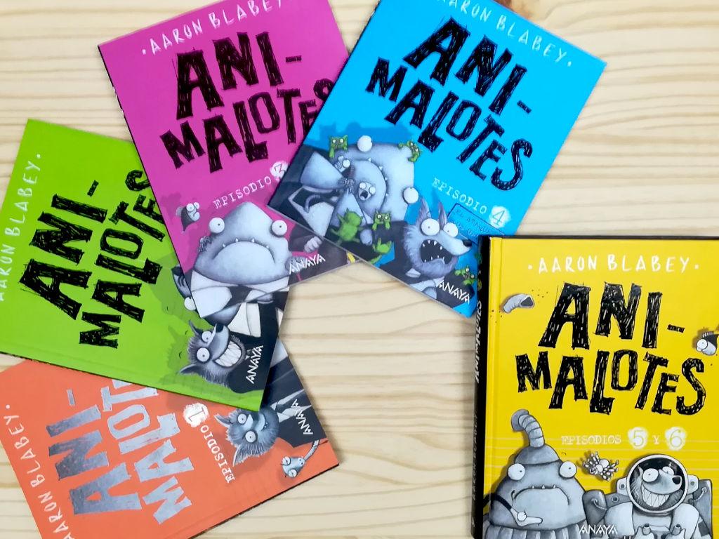 Animalotes editado por anaya y escrito por aaron blabey