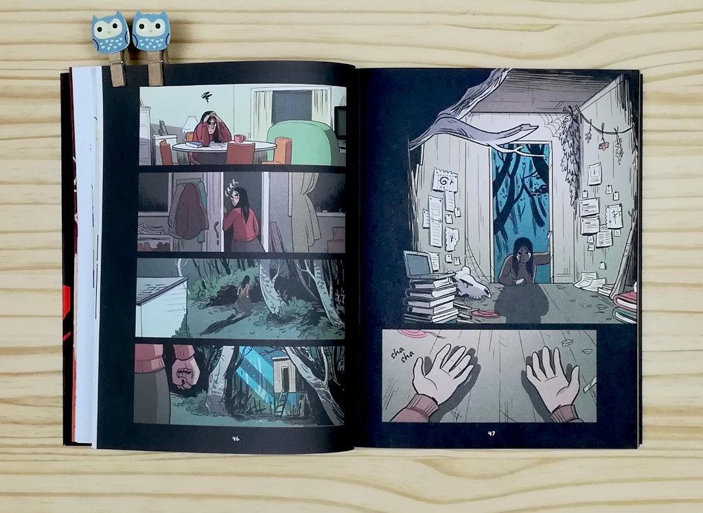 Bruja-escondida-Interior-dragón escrito por molly ostertag editado por harper kids