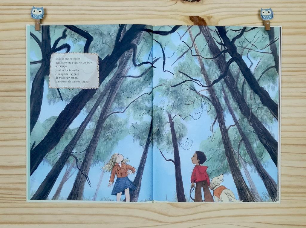 Como-hacer-una-casa-en-un-arbol editado por libros del zorro rojo ilustrado por emily hugues